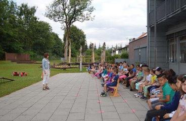 Besuch in der Grundschule Hochbrück