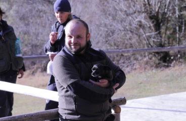 Rettungshundeübung im alpinen Gelände