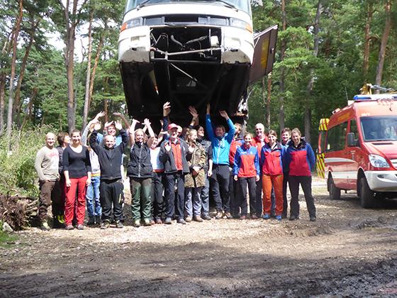 Gemeinsames Training mit der Bergwacht